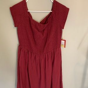 maroon fit & flare dress NEVER WORN